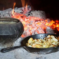 Пазл онлайн: Вкусна еда в печи
