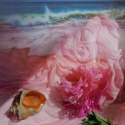 Пазл онлайн: Розовые мечты о море