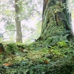 Пазл онлайн: Под деревом