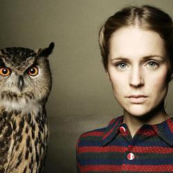 Пазл онлайн: Агнес Обель и сова