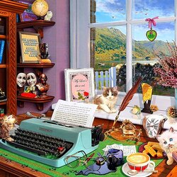Пазл онлайн: Кабинет писателя
