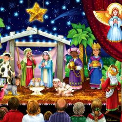 Пазл онлайн: Рождественский спектакль