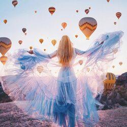 Пазл онлайн: Воздушные шары Каппадокии