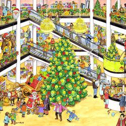 Пазл онлайн: Торговый центр в праздники
