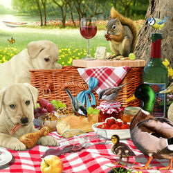 Пазл онлайн: Пикник