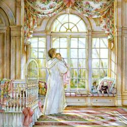 Пазл онлайн: Мать и дитя