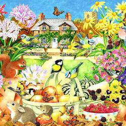 Пазл онлайн: Сад осенью