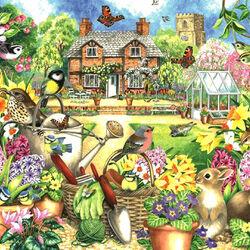 Пазл онлайн: Сад весной