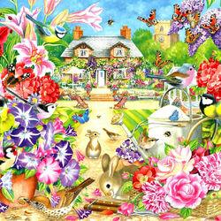 Пазл онлайн: Сад летом