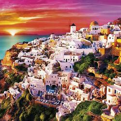 Пазл онлайн: Краски Санторини