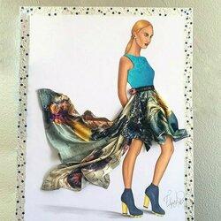 Пазл онлайн: Шелковое платье