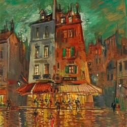 Пазл онлайн: Париж ночью
