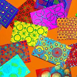 Пазл онлайн: Цветные текстуры