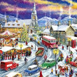 Пазл онлайн: Поездка домой на Рождество