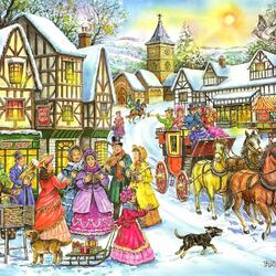 Пазл онлайн: Перед Рождеством