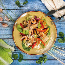 Пазл онлайн: Салат из морепродуктов