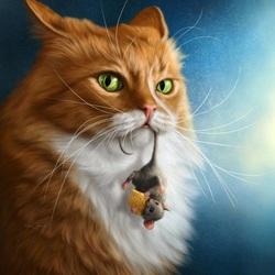 Пазл онлайн: Кот Василий