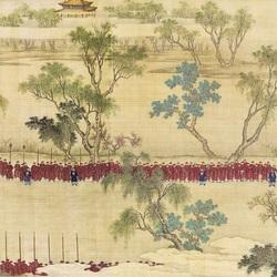 Пазл онлайн: Военный парад императора Цяньлуна (1)