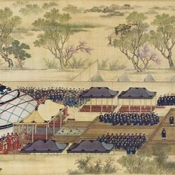 Пазл онлайн: Военный парад императора Цяньлуна (2)