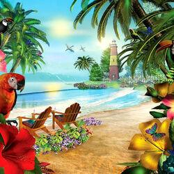 Пазл онлайн: Остров пальм
