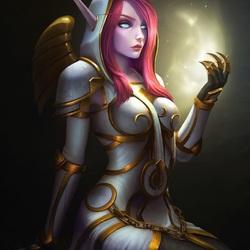 Пазл онлайн: Эльфийка-воин
