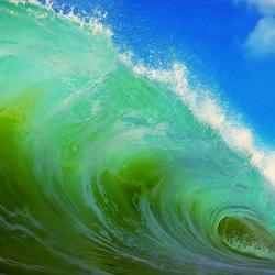 Пазл онлайн: Зелёная волна