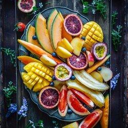 Пазл онлайн: Десерт с фруктами