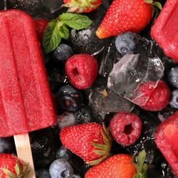 Пазл онлайн: Ягодное мороженое