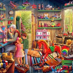 Пазл онлайн: Дедушкин домик