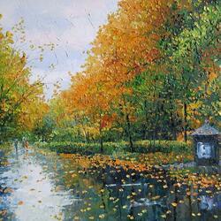 Пазл онлайн: Осенний дождь