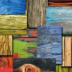 Пазл онлайн: Деревянная мозаика