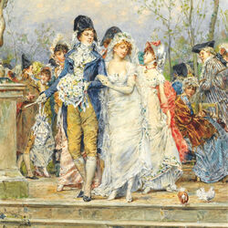 Пазл онлайн: Свадебный день