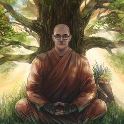 Пазл онлайн: Монах