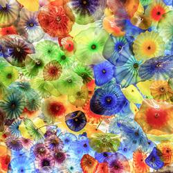 Пазл онлайн: Цветные медузы