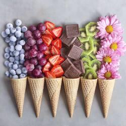 Пазл онлайн: Вместо мороженого