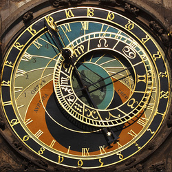 Пазл онлайн: Пражские часы