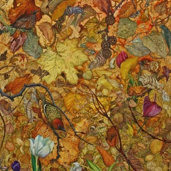 Пазл онлайн: Опавшие листья