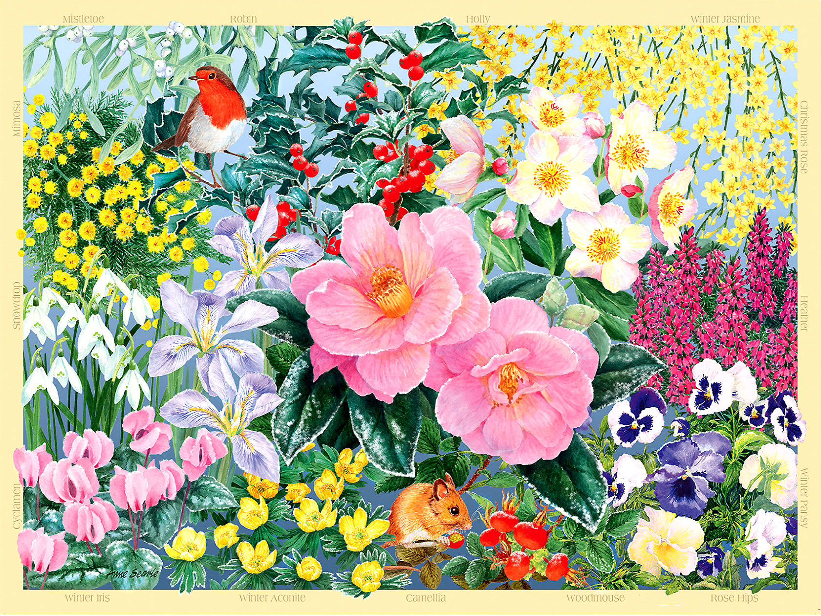 картинки для пазлов с цветами ёлку можно поставить