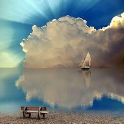 Пазл онлайн: Рассвет над островом Хиос