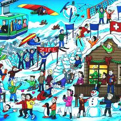Пазл онлайн: Зимние развлечения