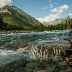 Пазл онлайн: Бурятия, река Шумиха