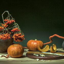 Пазл онлайн: Оранжевый натюрморт