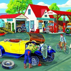 Пазл онлайн: Ремонт автомобиля