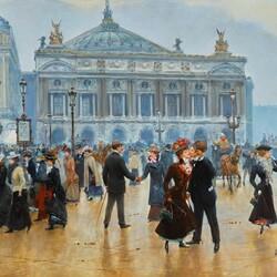 Пазл онлайн: Парижские зарисовки