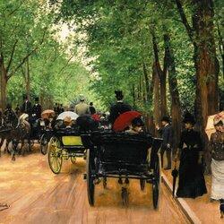 Пазл онлайн: Булонский лес