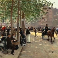Пазл онлайн: Парижский бульвар