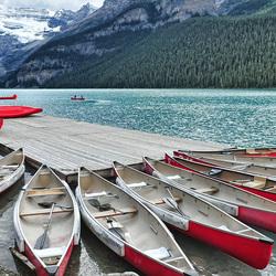 Пазл онлайн: Озеро Луиз в Альберте