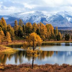 Пазл онлайн: Осенний Алтай. Озеро Киделю