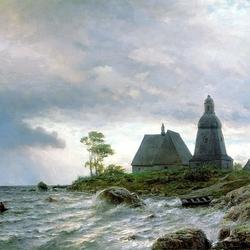 Пазл онлайн: Северный пейзаж