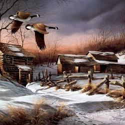 Пазл онлайн: Зимний бурелом/Winter Windbreak
